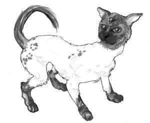 A cat-like animal