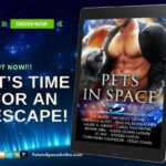 "Pets in Space 5 cover on an e-reader with the words ""It's Time for an Escape!"""